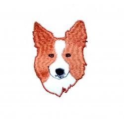 Vyšívaná nášivka pes